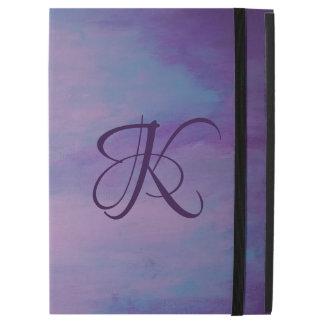"Flighty Tech | Monogram Purple Blue Pink | Pastel iPad Pro 12.9"" Case"