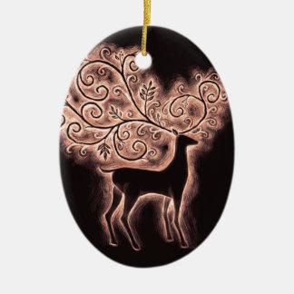 fligree deer ornament dark