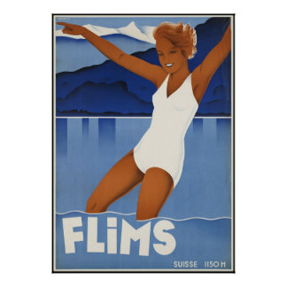 Flims Switzerland Poster