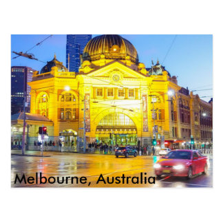 Flinders st train station, Melbourne Postcard