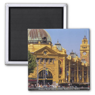 Flinders Street railway station, Melbourne, Austra Square Magnet