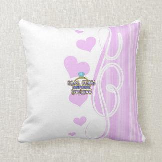 fling before ring bride bachelorette wedding party cushion