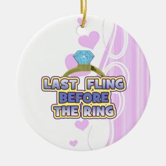 fling before ring bride bachelorette wedding party christmas tree ornaments