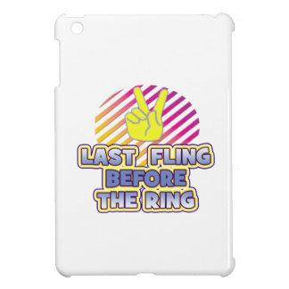 fling ring peace bachelorette wedding bridal iPad mini cover