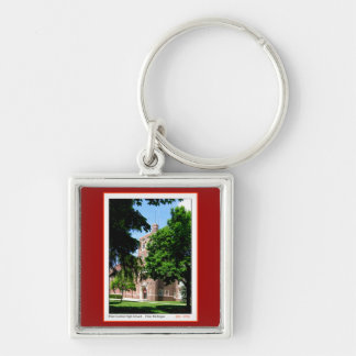 Flint Central High Silver-Colored Square Key Ring