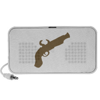 Flint Pistol Silhouette Portable Speakers