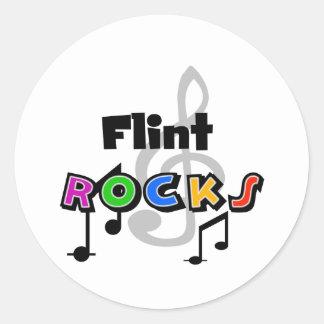 Flint Rocks Classic Round Sticker