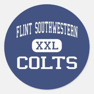 Flint Southwestern - Colts - High - Flint Michigan Classic Round Sticker