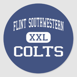 Flint Southwestern - Colts - High - Flint Michigan Round Sticker