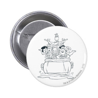 Flintstones Families1 6 Cm Round Badge