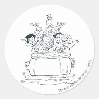 Flintstones Families1 Round Sticker