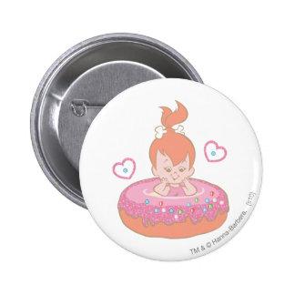 Flintstones Lovely Pebbles 6 Cm Round Badge