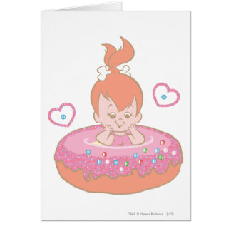 Flintstones Lovely Pebbles Card