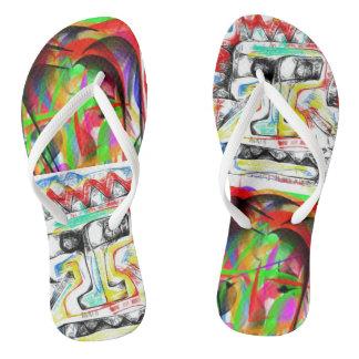 Flip art flop flip flops