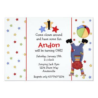 Flip Clown Invitation