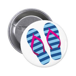 Flip Flop 6 Cm Round Badge