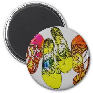 Flip Flop 6 Cm Round Magnet