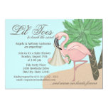 Flip Flop and Flamingo Baby Shower Invitations