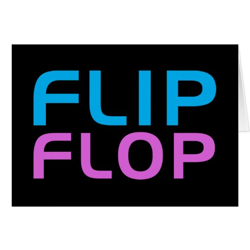 Flip Flop Greeting Cards