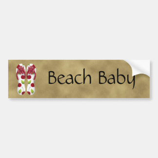 Flip Flop Cherries Bumper Sticker