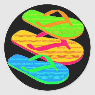 flip-flop classic round sticker