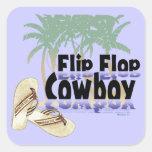 Flip Flop Cowboy stickers