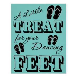 "Flip Flop Dancing Wedding Sign - 11"" x 14"" Poster"