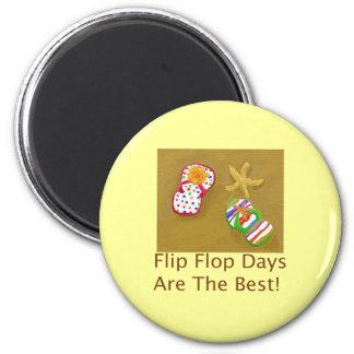 Flip Flop Days 6 Cm Round Magnet