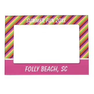 Flip Flop Days Palette Stripe Personalized Magnetic Picture Frame
