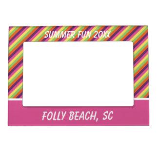 Flip Flop Days Palette Stripe Personalized Photo Frame Magnet