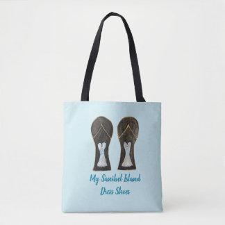 Flip Flop Dress Shoes Whimsical Sanibel Art Tote Bag