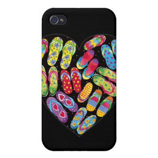 flip-flop-heart- I-phone case Case For The iPhone 4