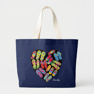 Flip-Flop Heart jumbo tote bag