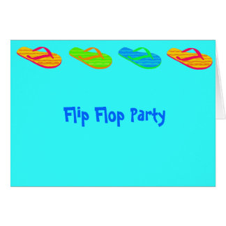 Flip Flop Party Greeting Card