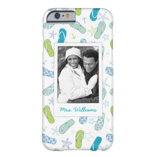 Flip Flop Pattern | Your Photo & Name Barely There iPhone 6 Case