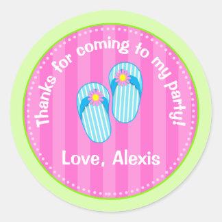 Flip Flop Pool Party Favor Stickers