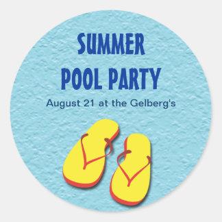Flip Flop Pool Party Sticker