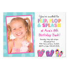 Flip Flop Splash Birthday Bash Card