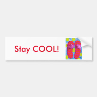 Flip Flop Stay COOL! Bumper Sticker