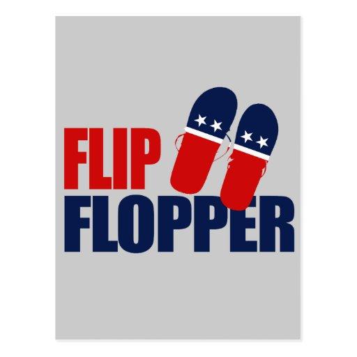 Flip Flopper Romney Post Card