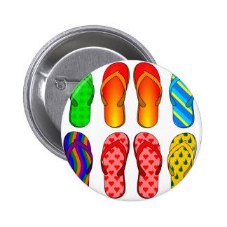 Flip Flops 6 Cm Round Badge