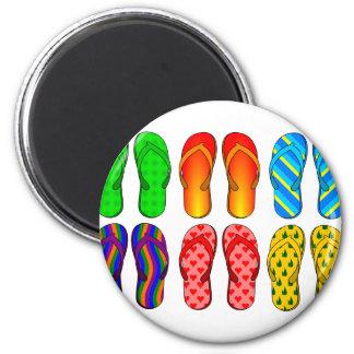 Flip Flops 6 Cm Round Magnet