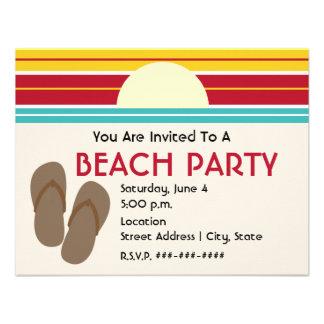 Flip Flops 70s Inspired Sunset Beach Party Invite