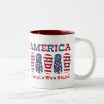 Flip Flops America Coffee Mugs