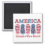 Flip Flops America Fridge Magnet