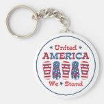 Flip Flops America Keychain