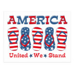 Flip Flops America Postcard