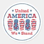 Flip Flops America Round Sticker