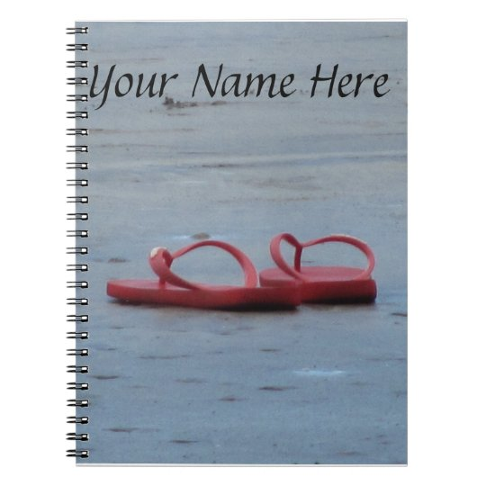 Flip Flops at the Beach Notebook
