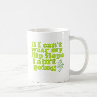 flip flops basic white mug